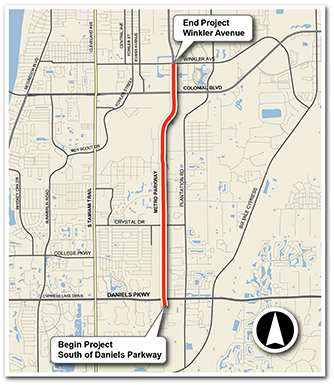 Link to Metro Parkway SR 739 Project Limits Map